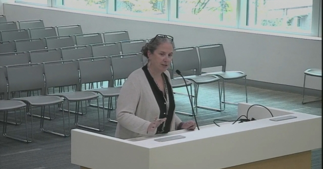 Cuyahoga County Budget Director Maggie Keenan addresses county council in November this year. [Cuyahoga County Council]