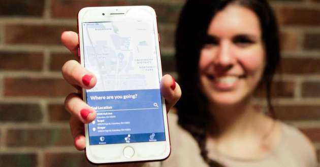Angela Rucci created an app called Tego to help Ohio State students get home safely.