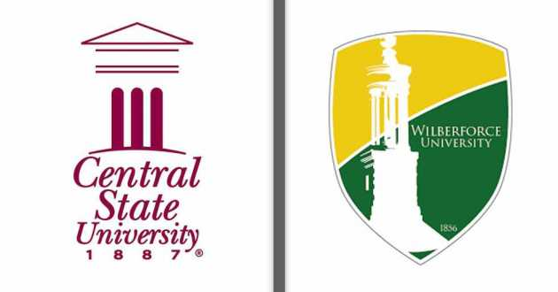 logos of Wilberforce and Central State universities