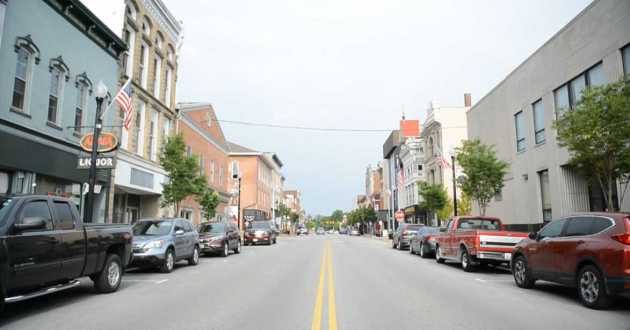 The main street of Wapakoneta, Ohio, astronaut Neil Armstrong's hometown. The town is set to celebrate the 50th anniversary of the Apollo 11 moon landing.