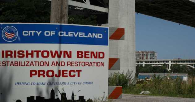 Cleveland's Irishtown Bend Stabilization and Restoration Project has been in the works for years and finally has enough funding to move forward with the first phase, partners say.