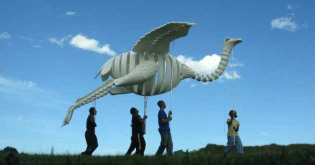 A menagerie of life-sized animal puppets are about to parade through downtown Cleveland [Roger Titley]