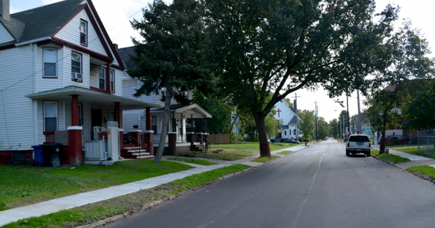 A street in Cleveland's Hough neighborhood in 2017.