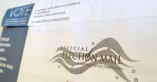 Ohio absentee ballots must be postmarked by Nov. 2 this year, but voters can also drop them off in person at county board of election drop boxes.