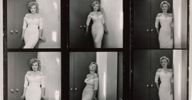 "Contact sheet from a shoot with Marilyn Monroe in 1952 for ""Life"" by photographer Philippe Halsman. [Cleveland Museum of Art]"