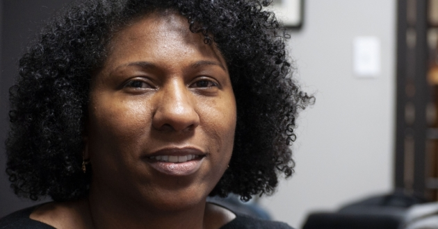 Keisha Krumm, the new executive director at Greater Cleveland Congregations, says the organization will continue to focus on criminal justice reform and poverty. [Matthew Richmond / ideastream]