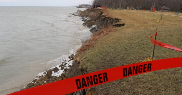 The Township Park Board put up caution tape on Feb 18.