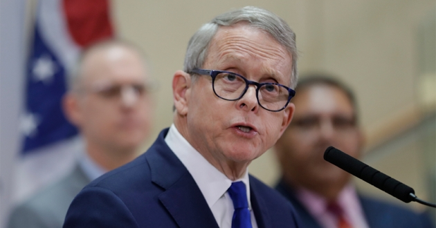 Ohio Governor Mike DeWine gives an update at MetroHealth Medical Center on the state's preparedness and education efforts to limit the potential spread of a new virus which caused a disease called COVID-19, Thursday, Feb. 27, 2020, in Cleveland.
