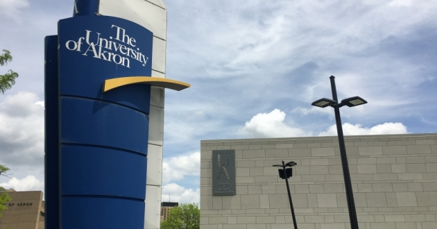 The University of Akron is cutting 178 union and non-union faculty and staff, regardless of tenure, to save $16.4 million. [Annie Wu / ideastream]