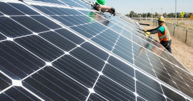 Solar panels being tested at the National Renewable Energy Laboratory in Colorado