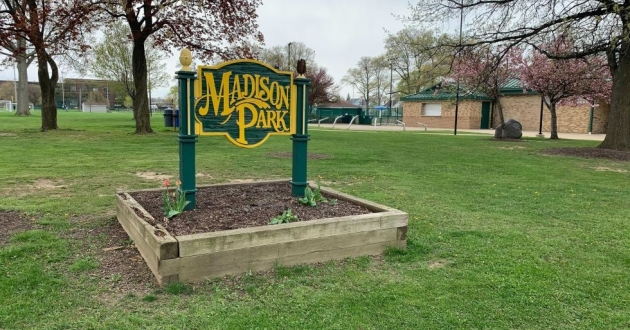 The Madison Park basketball courts have seen two shootings in about a month. [Taylor Haggerty / ideastream]