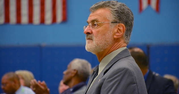 Cleveland Mayor Frank Jackson attends a meeting of block clubs in 2015. He announced last week that he will not seek a fifth term in office.