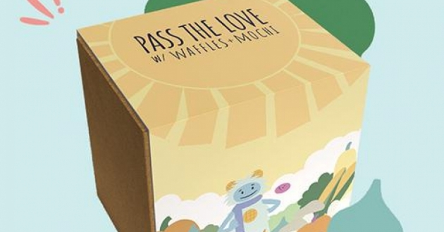"""Cleveland and Atlanta are the first cities to receive meal kits for families through the """"Pass the Love with Waffles + Mochi"""" campaign. [Pass the Love with Waffles + Mochi]"""