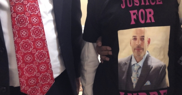 Andre Hill, fatally shot by Columbus police on Dec. 22, is memorialized on a shirt worn by his daughter, Karissa Hill, on Thursday, Dec. 31, 2020, in Columbus, Ohio.