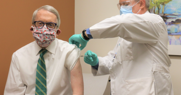 Gov. Mike DeWine gets second COVID-19 vaccine [Office of Gov. Mike DeWine]