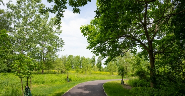The new park spans approximately 25 acres, including a half-mile, paved, all-purpose trail connecting Pearl Road and Wildlife Way to the Cleveland Metroparks Zoo through Brighton Park. [Cleveland Metroparks]
