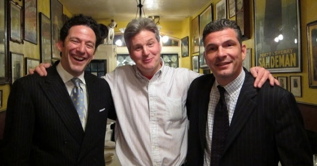 Live music promoter and producer Jim Wadsworth (center) got word his Jim Wadsworth Productions is approved for Shuttered Venue Operators Grant. He is seen here with musicians John Pizzarelli (left) and Martin Pizzarelli (right). [Bruce Hennes]