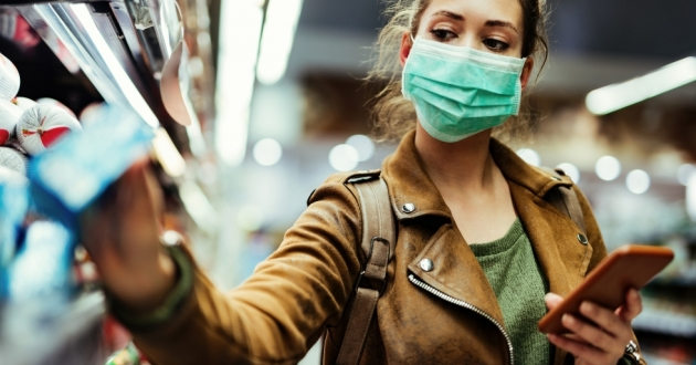 """The mask advisory just means health officials are """"strongly encouraging"""" wearing a mask in indoor, public spaces, but there is no official requirement. [Drazen Zigic / Shutterstock]"""