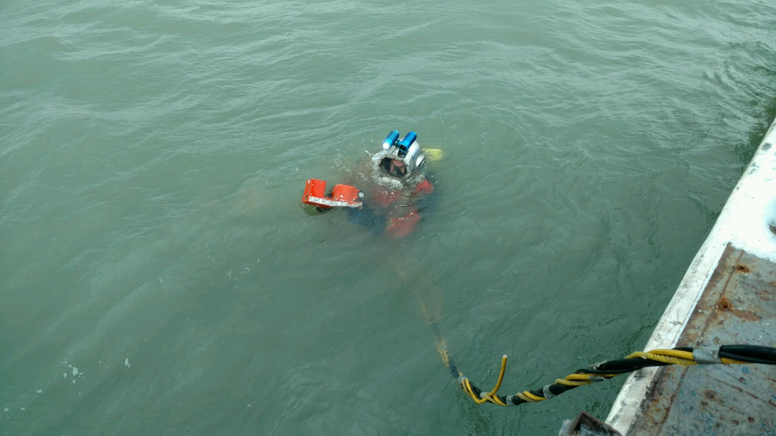 Unconfirmed Portions Of Fuselage Found Divers Recover Voice Recorder From Missing Plane News Ideastream
