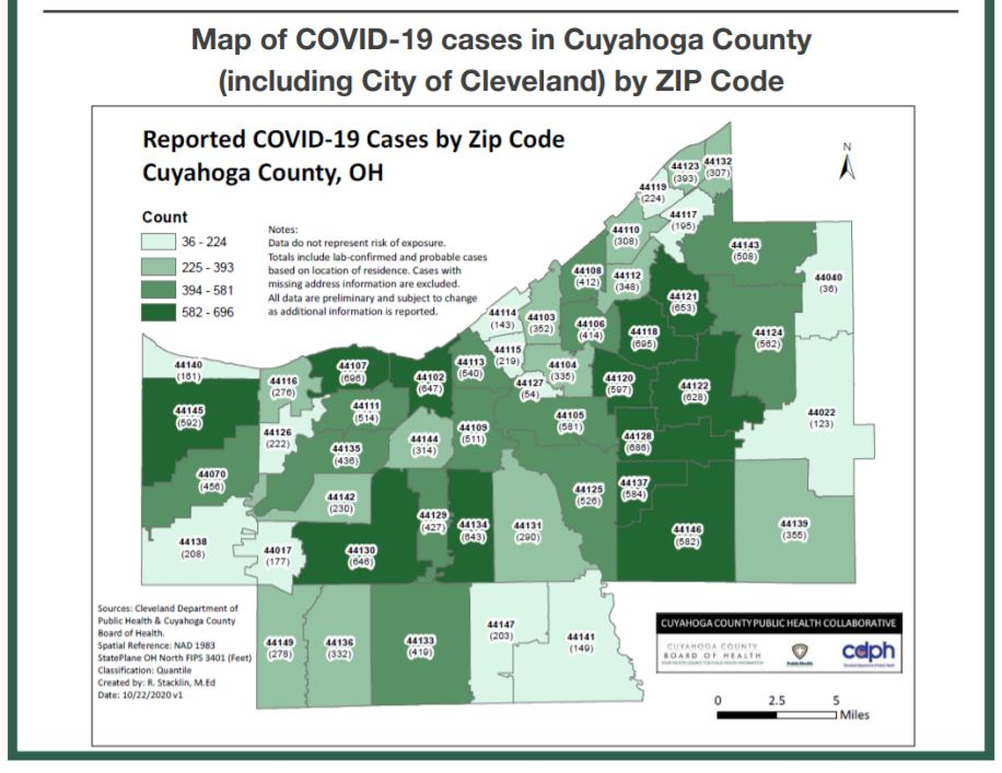 Cuyahoga County Covid 19 Cases Total Nearly 14 000 600 Deaths Health Ideastream