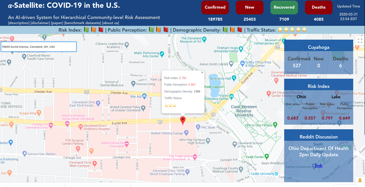 Cwru Researchers Create Real Time Tool To Map Covid 19 Risk Health Ideastream