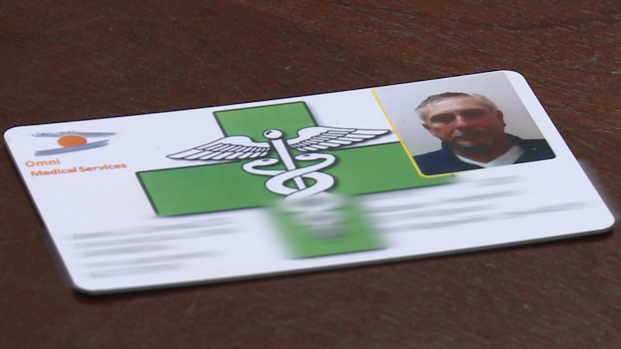 Adrian Frederick will use this card to obtain medical marijuana in Michigan.