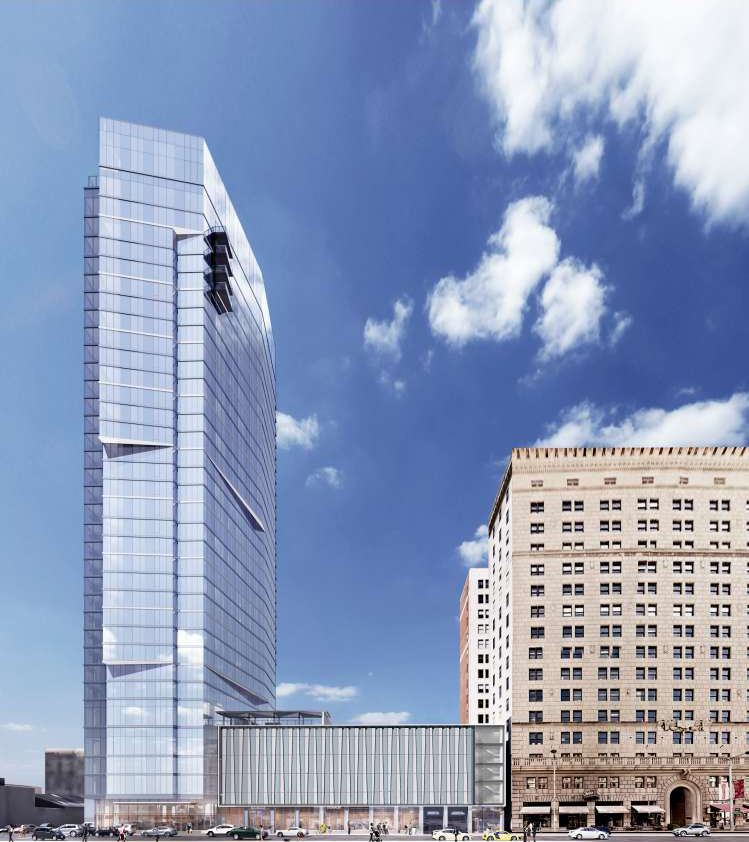 Architectural rendering of Lumen apartment building in Cleveland's Playhouse Square