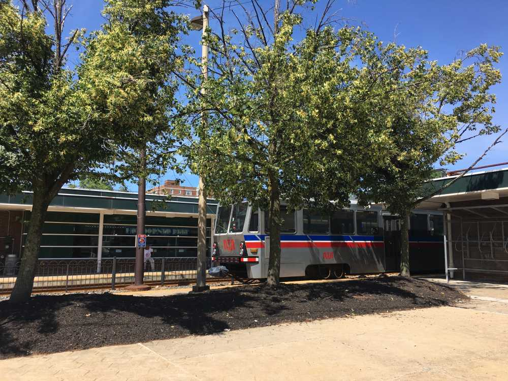 Rapid train at the Shaker Square station