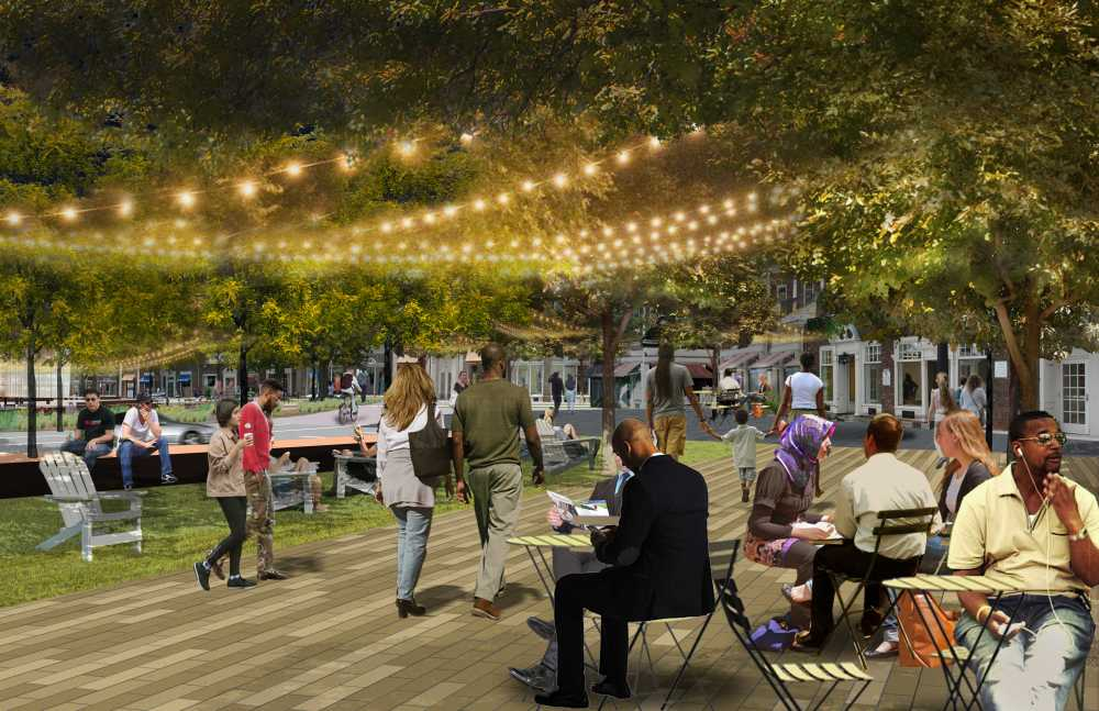 Architectural rendering of the promenade around the Square.