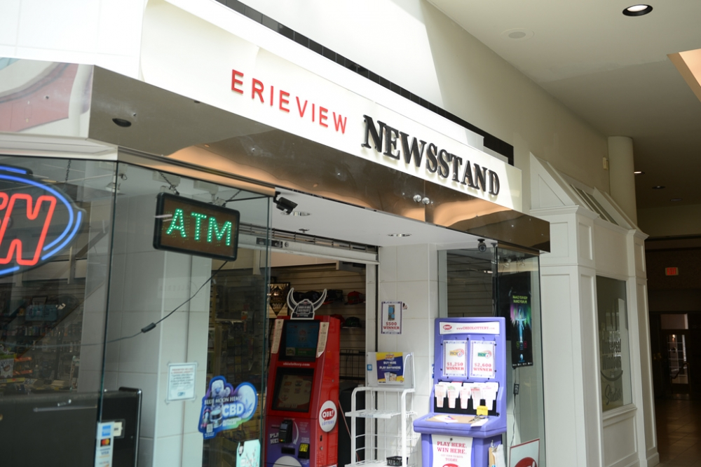 Girish Patel's Erieview Newsstand at the Galleria in Downtown Cleveland