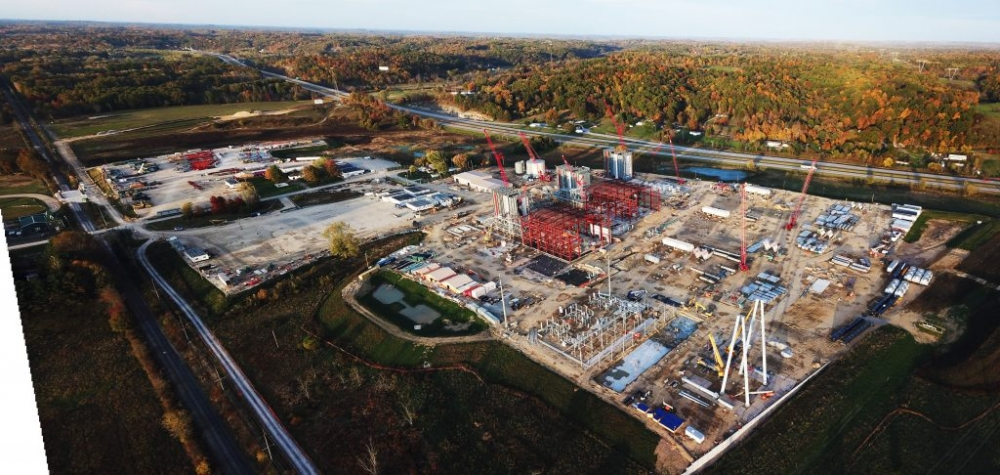 Guernsey Power Station construction site on Oct. 15, 2020