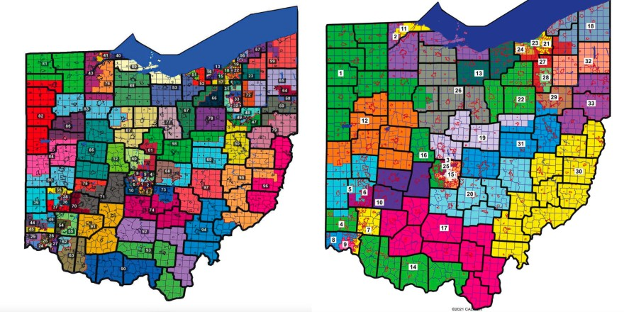 New statehouse district maps