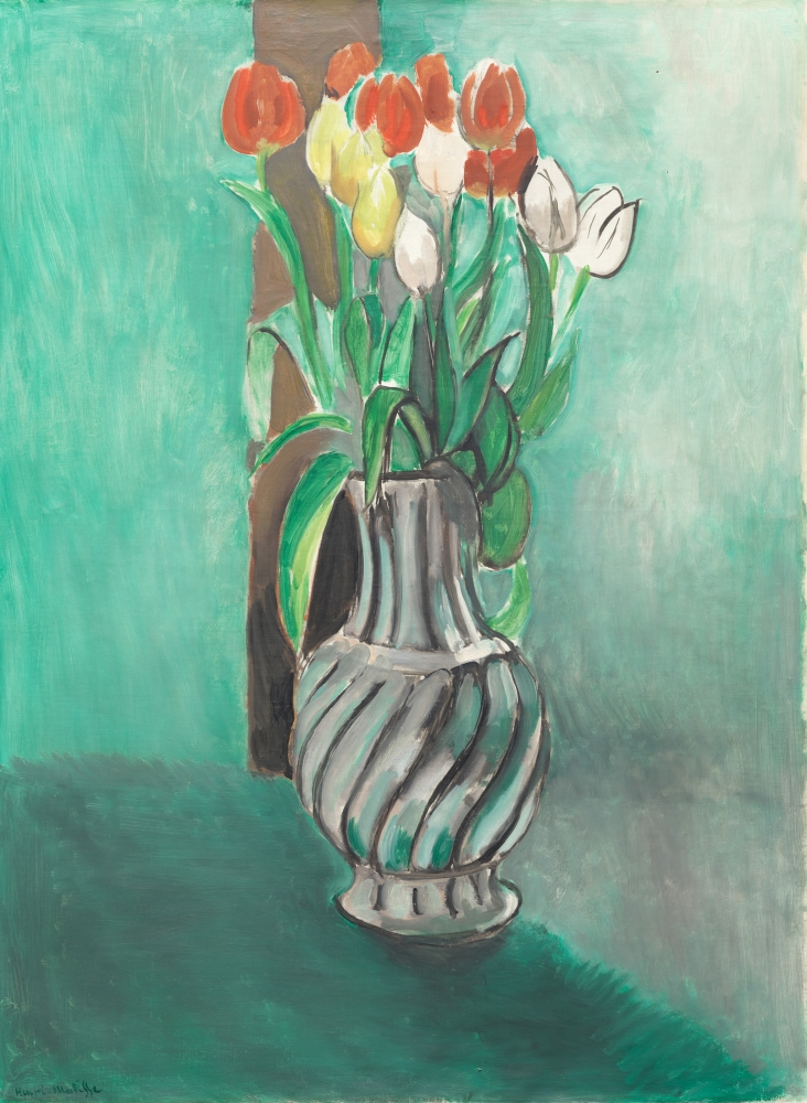 Painting of tulips by Matisse