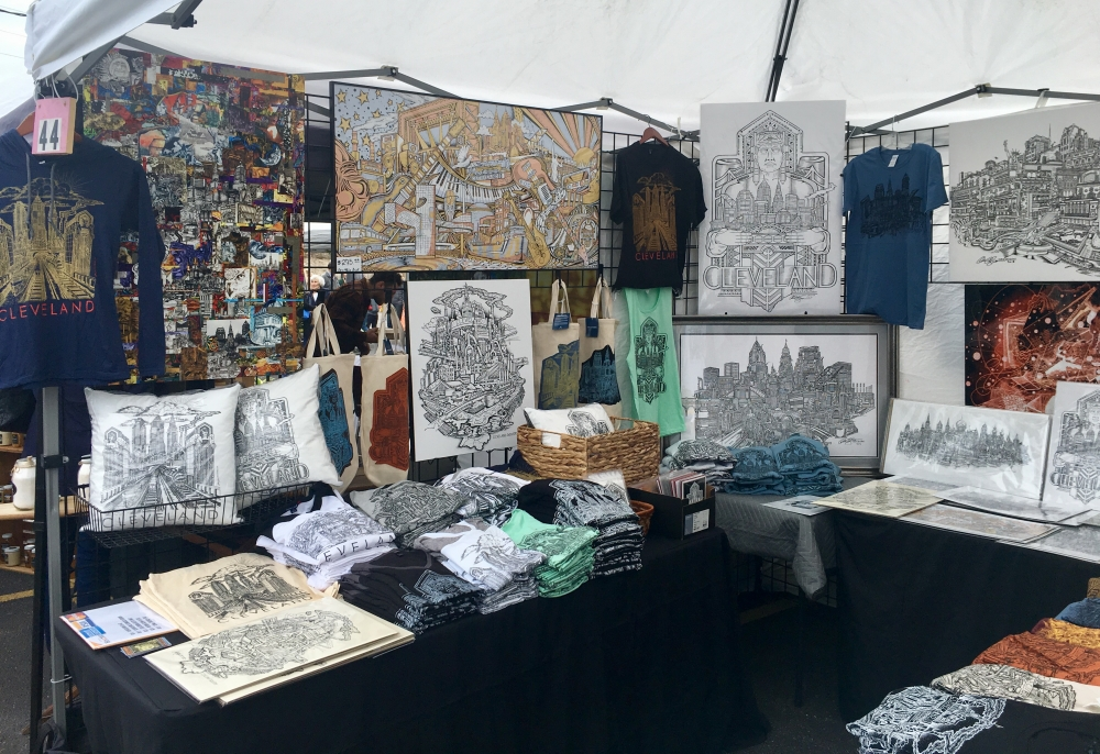 Chris Deighan's booth at the Cleveland Flea