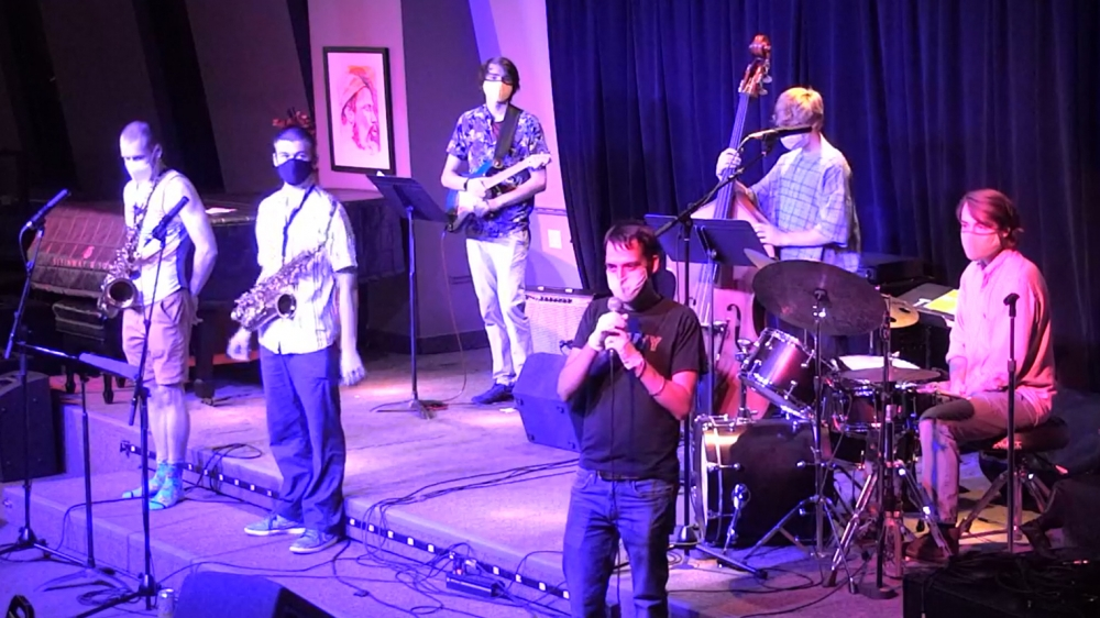 Quintet plays at Bop Stop in Cleveland. [Bob Stop]