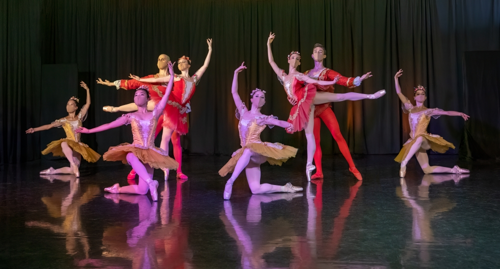 Verb Ballet dancers perform in masks and online due to the COVID-19 pandemic. [Jackie Sajewski / Verb Ballets]