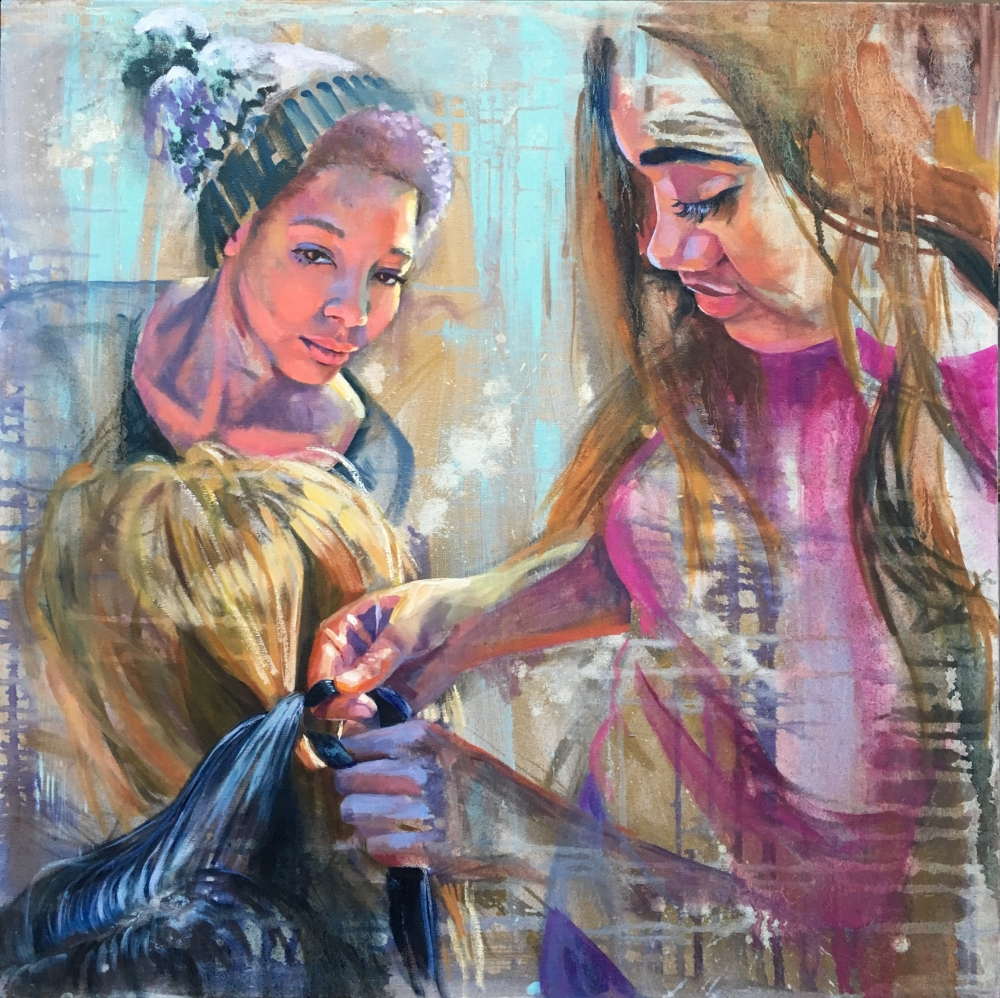 """""""Tied Together"""" Painting by Sarah Curry"""