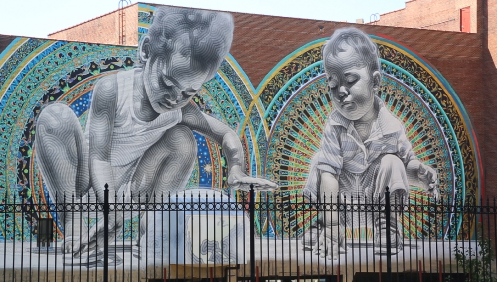Mural on the Lock 4 side of Akron Civic Theatre