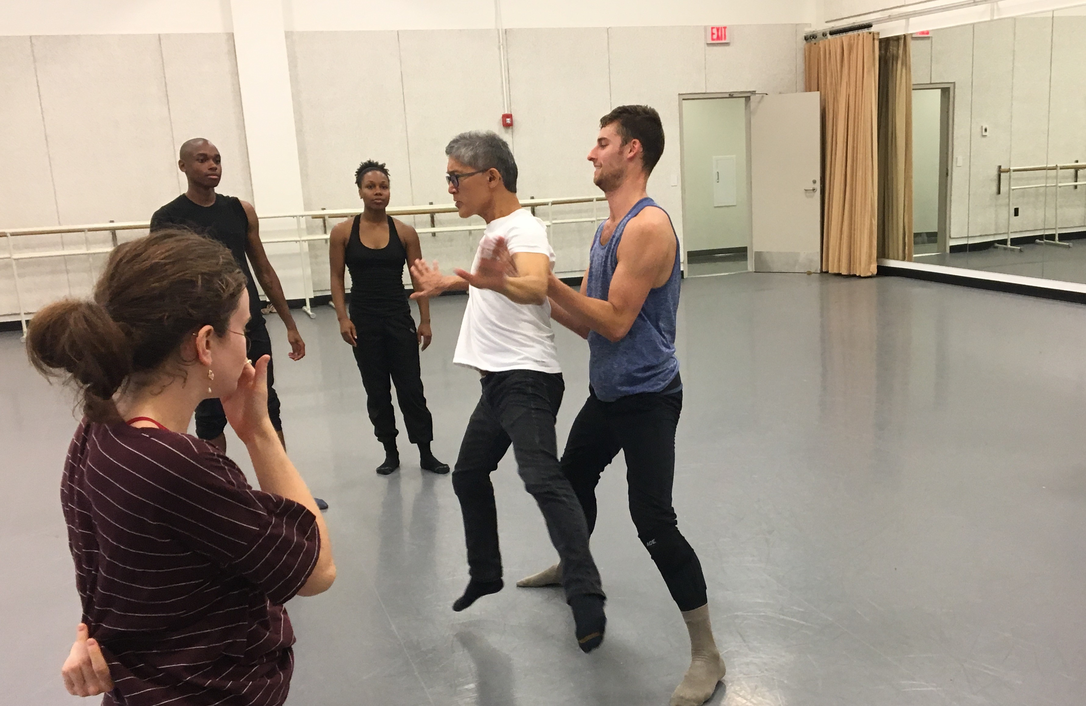 David Shimotakahara works with dancer Tyler Ring
