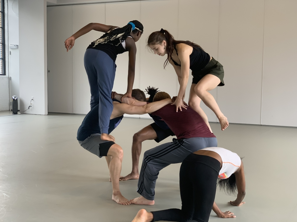 Inlet Dance Theatre dancers in rehearsal.