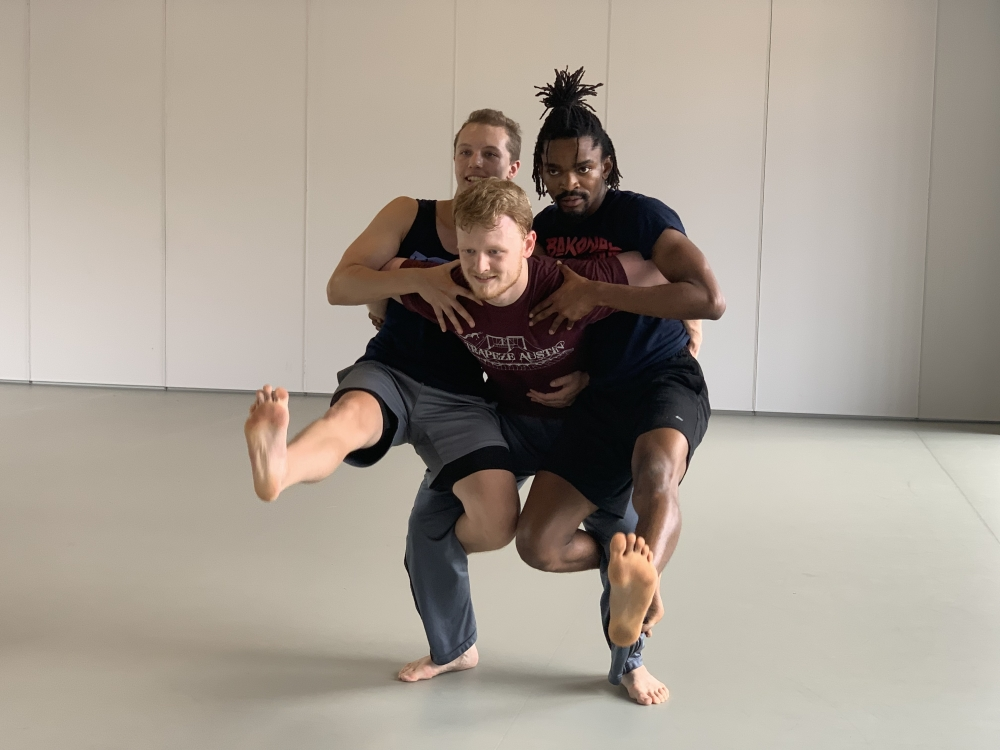 Mason Alexander with Inlet dancers in rehearsal.
