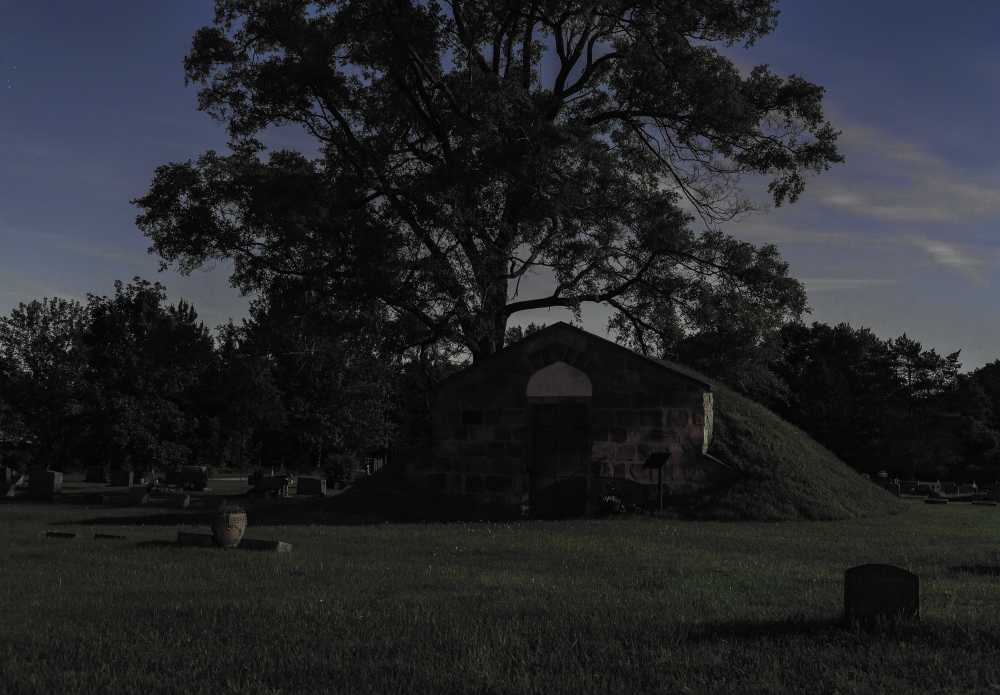 "[""Liberty to the Fugitive Captive."" Waiting for the All Clear to Head to the Captain John Lowry Station, Lodi Plains Cemetery, Nutting's Corner, Michigan, 2014/ Jeanine Michna-Bales]"