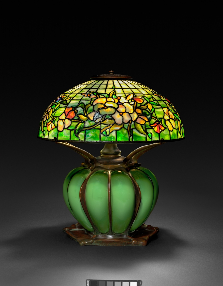 picture of Pansy Border Table Lamp, c. 1902–10. Probably by Clara Wolcott Driscoll (American, 1861–1944), Tiffany Studios (America, 1902–1932).  [The Cleveland Museum of Art, Bequest of Charles Maurer]