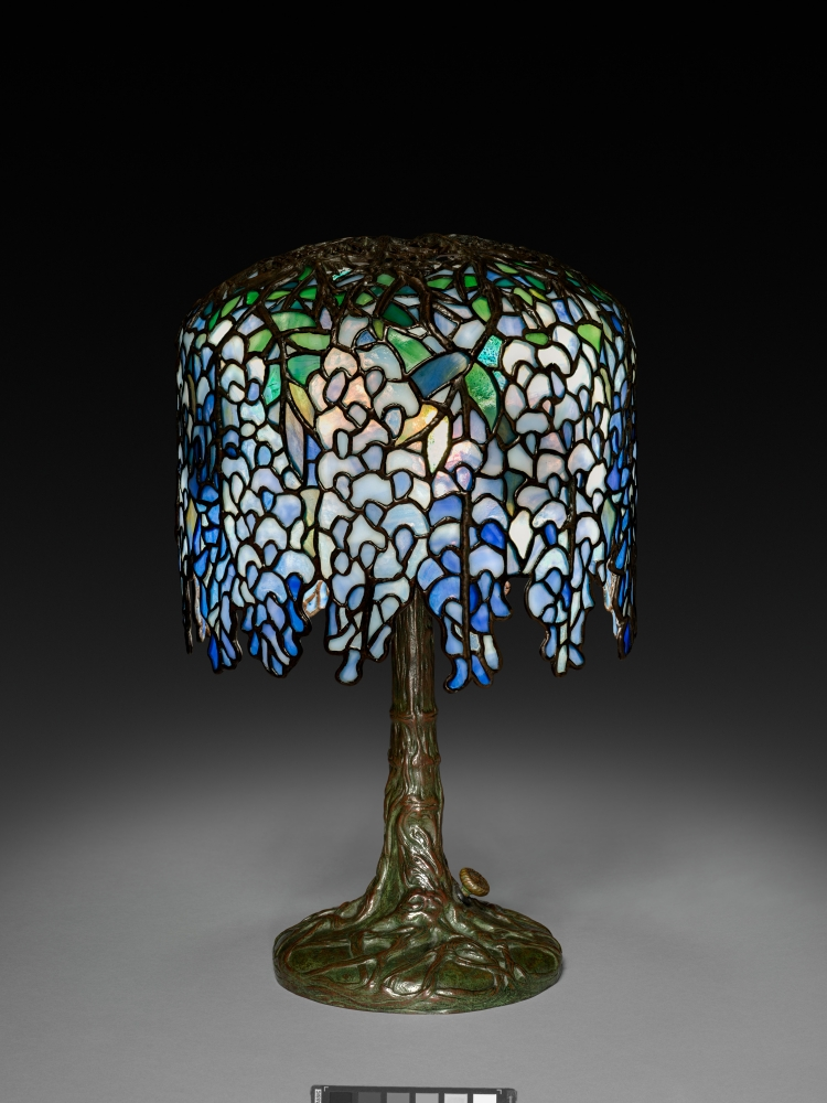picture of Wisteria Lamp, c. 1902–10. Clara Wolcott Driscoll (American, 1861–1944), Tiffany Studios (America, 1902–1932). [The Cleveland Museum of Art, Bequest of Charles Maurer]
