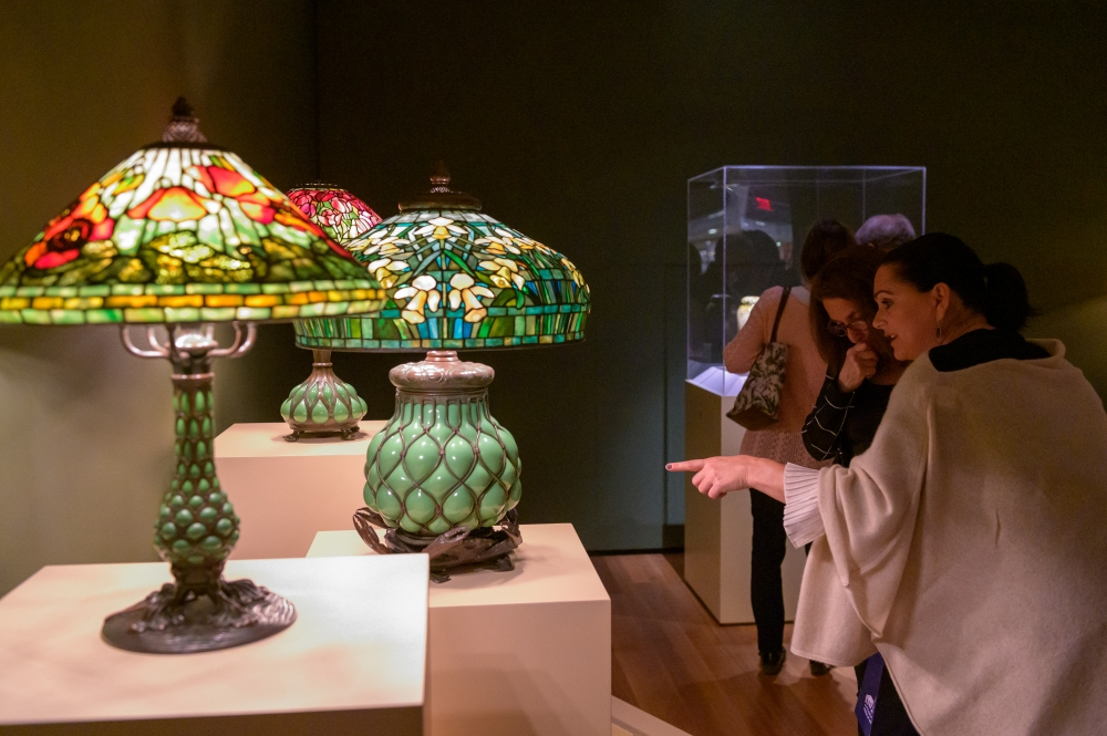 picture of Tiffany Lamps [Julie Hahn/Cleveland Museum of Art]