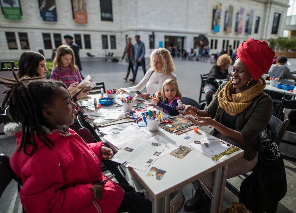 Children and adults making art at Cleveland Museum of Art's Martin Luther King Day Celebration [Scott Shaw Photography/Cleveland Museum of Art]