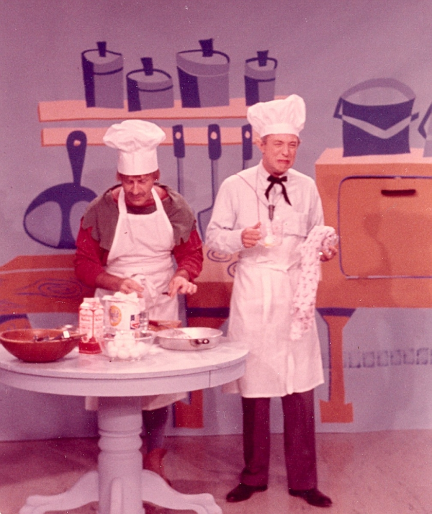 picture of Clay Conroy as Woodrow and Linn Sheldon as Barnaby cooking KYW-TV [Dave Little Collection/Mike Olszewski]