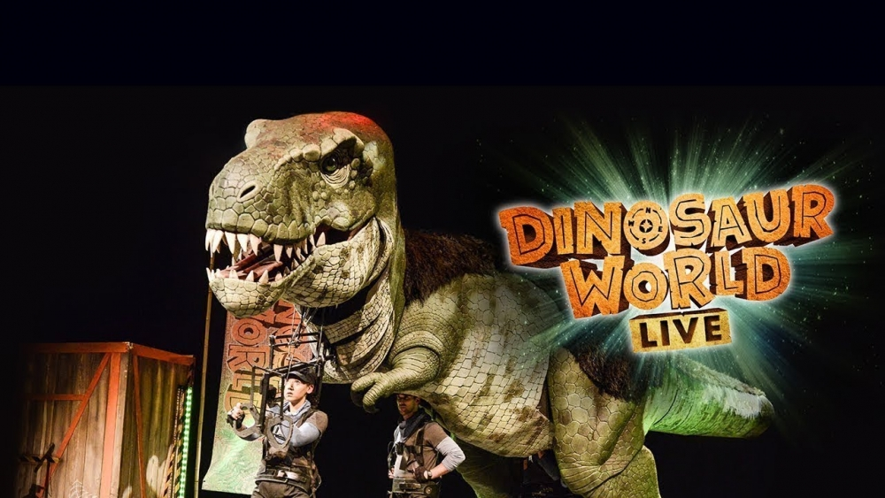 "picture from stage show ""Dinosaur World"" [E.J. Thomas Hall]"