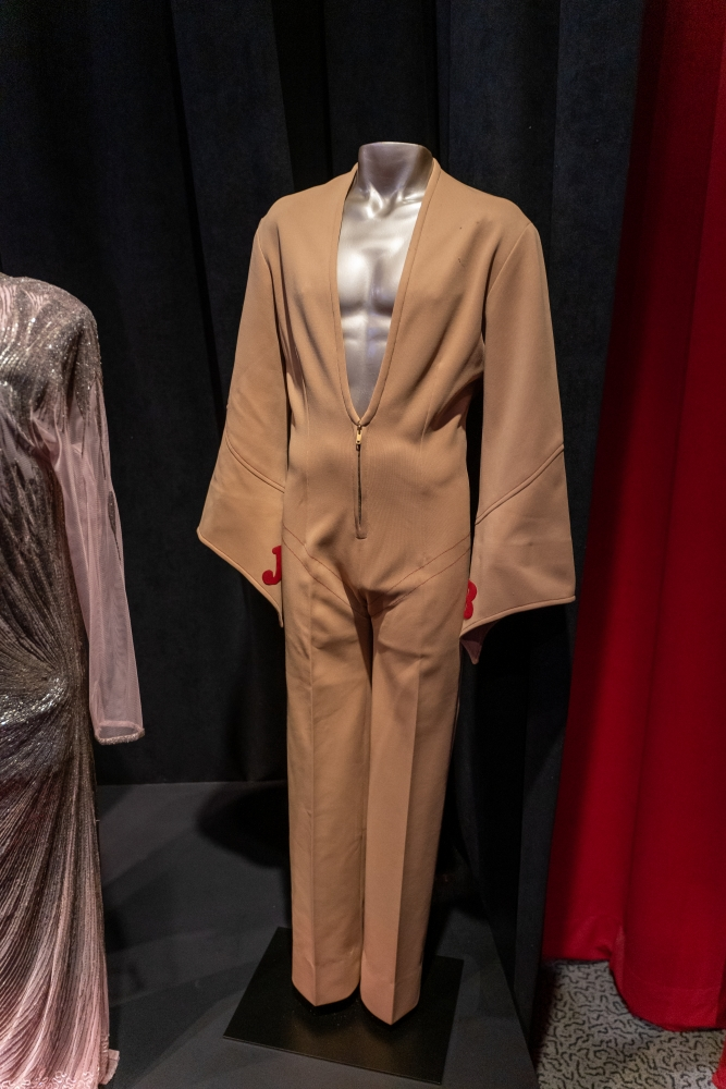 Photo of James Brown's jumpsuit [Rock & Roll Hall of Fame]