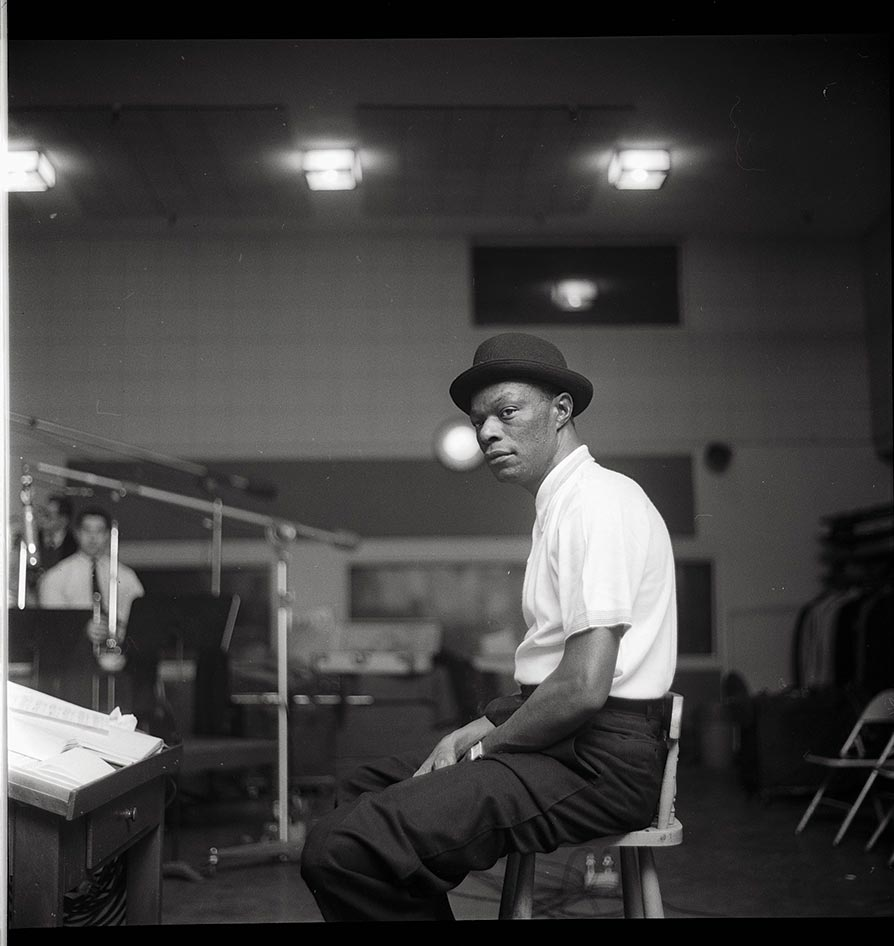 1958 Photo of singer Nat Cole [Chuck Stewart Estate/Rock & Roll Hall of Fame]